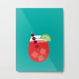 Cranberry Cocktail Art Print Metal Print
