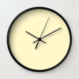 Simply Solid - Lemon Chiffon Wall Clock