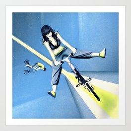 Happy Joyride (blue yellow) Art Print