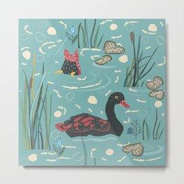 Ducks on the lake Metal Print