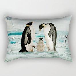 Emperor Penguin Family Rectangular Pillow