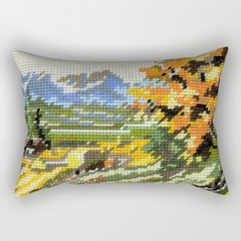 Found Tapestry Landscape Rectangular Pillow