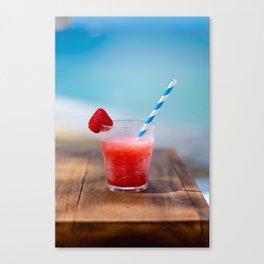 Tropical Summer Drink Canvas Print