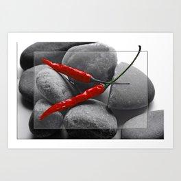 Hot Chilis Stones Art Print