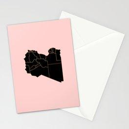 Libya map Stationery Cards