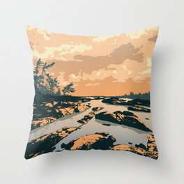 The Massasauga Park Poster Throw Pillow