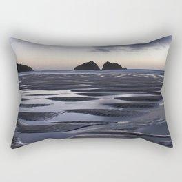 Gull Rock, Holywell Bay, Cornwall, England, United Kingdom Rectangular Pillow