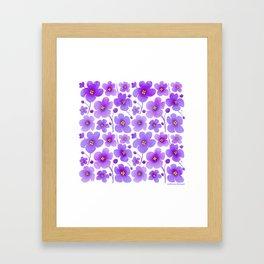 Flowers. Violets. Framed Art Print