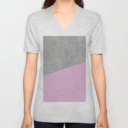 Concrete with Pink Lavender Color Unisex V-Neck