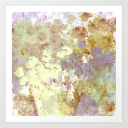 Lavender and Yellow Bouquet Art Print