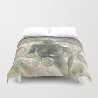 bath Duvet Covers featuring THE BATH by Julia Lillard Art