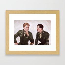 Two Kids from Brooklyn Framed Art Print