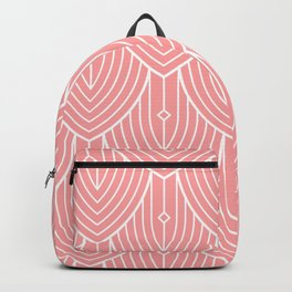 White and pink ArtDeco pattern Backpack