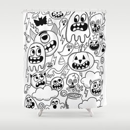 Ghosts & goblins Shower Curtain