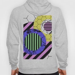 Stripes? Marble? Hex? - Random, eclectic, geometric, abstract design Hoody