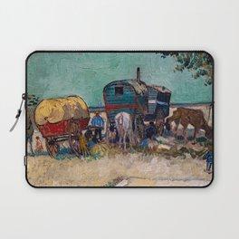 Vincent Van Gogh - Caravans, Gypsy Camp near Arles Laptop Sleeve