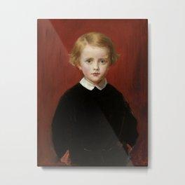 "John Everett Millais ""John Wycliffe Taylor, at the age of five"" Metal Print"