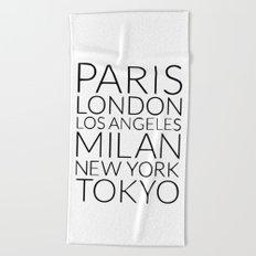 Cities Beach Towel