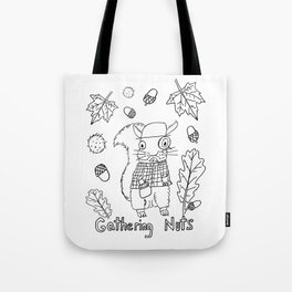Gathering Nuts  Tote Bag