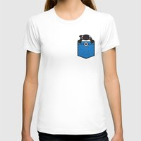 pocket T-shirts featuring Pocket Whale by Steven Toang
