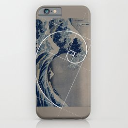 Hokusai Meets Fibonacci iPhone Case