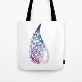 John 7:38 - Living water watercolour Tote Bag