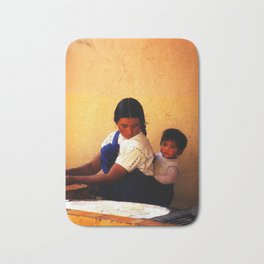 Chamula Woman and Child Bath Mat