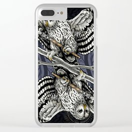 Owl Deck: Queen of Clubs Clear iPhone Case