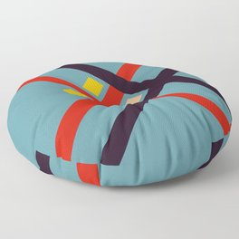 Moltinus - Colorful Abstract Art Floor Pillow