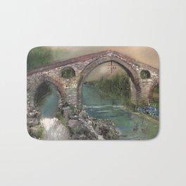 The Roman Bridge, Asturias  Bath Mat