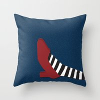 oz Throw Pillows featuring Oz shoe by Priscylla Cabral
