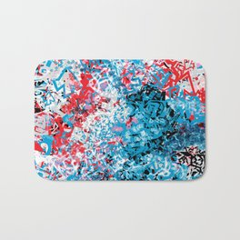 Demonic Toy Poodle Abstract Bath Mat