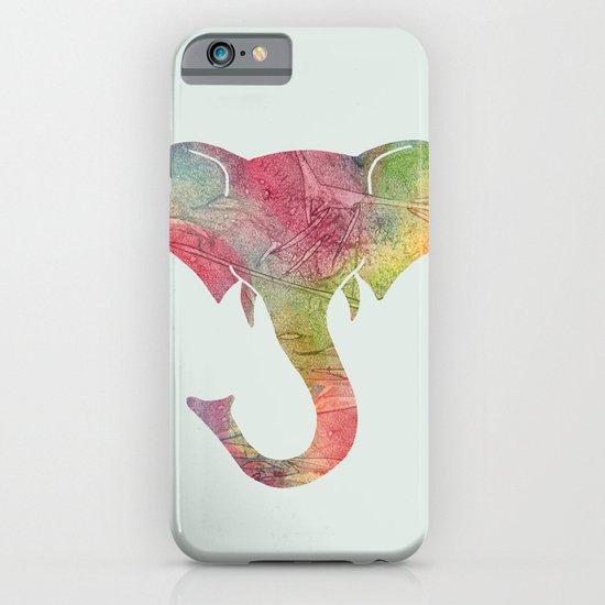 Rainbow Elephant iPhone & iPod Case