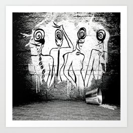 4Ladies - Banksy - GRAFITTI Art Print