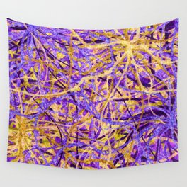 Purple and Gold Celebration Wall Tapestry