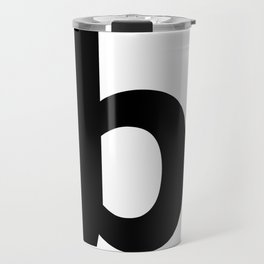 letter B (Black & White) Travel Mug