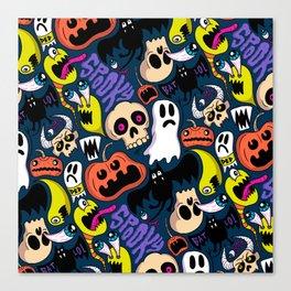 Spooky Pattern Canvas Print