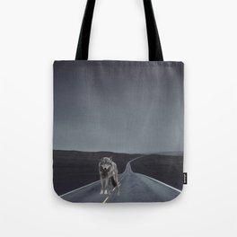 Road Wolf Tote Bag