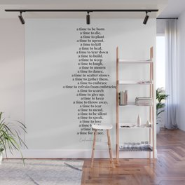 A Time for Everything Ecclesiastes 3:2-8 Wall Mural