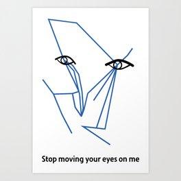 Eyes looking  Art Print