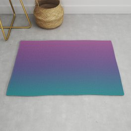 Ombre Ultra Violet Green Pattern | Trendy colors of the year 2018 Rug