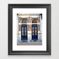 Two doors Framed Art Print