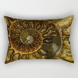 Earth treasures - Dark and light brown fossil Rectangular Pillow