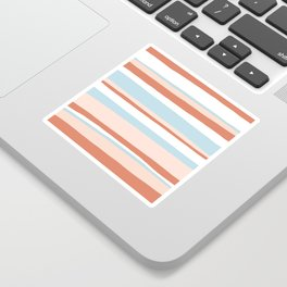 mesa, desert pastel stripes Sticker
