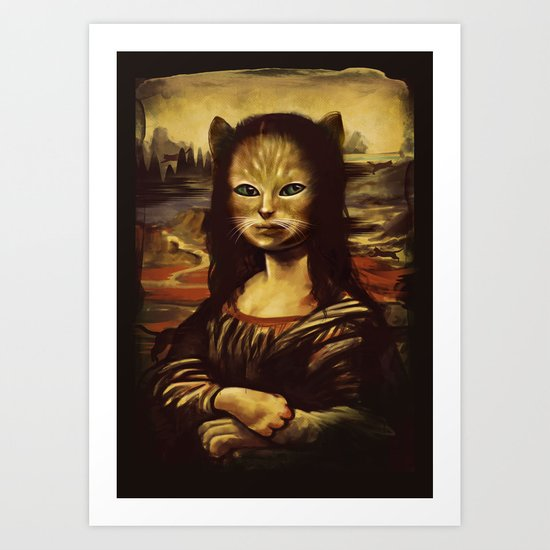 The Secret Revealed (Meowna Lisa) Art Print