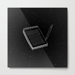Notepad Constellation Metal Print