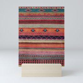 Oriental Traditional Rug Artwork Design C13 Mini Art Print