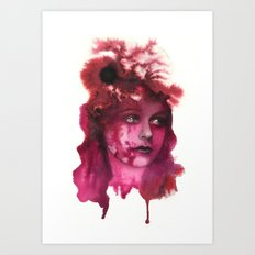 Blood Lady #1 Art Print