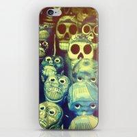 skulls iPhone & iPod Skins featuring skulls by Bunny Noir