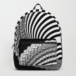 Black and White Geometric Pattern Backpack